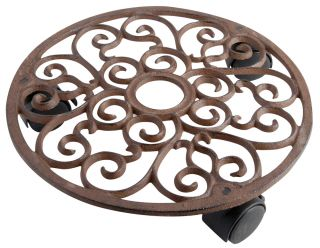 Cast Iron Round Garden Pot Mover/Trolley - 29cm (11.4in)