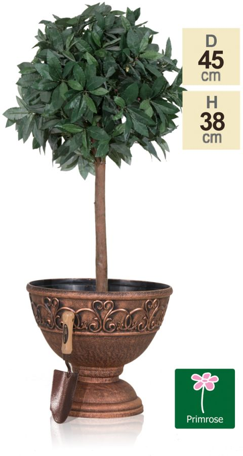 45cm Roman Urn Planter in Copper by Primrose™