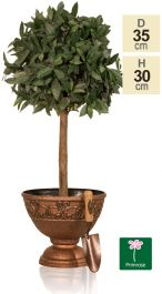 35cm Roman Urn Planter in Copper by Primrose™