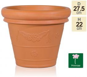27.5cm Flower Garland Planter in Terracotta by Primrose™