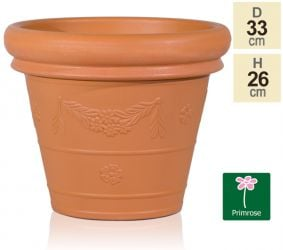 33cm Set of 2 Flower Garland Planters in Terracotta by Primrose®