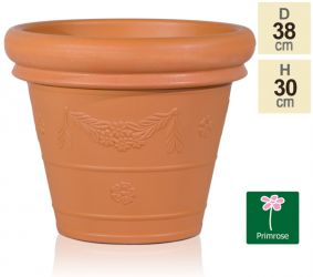 38cm Set of 2 Flower Garland Planters in Terracotta by Primrose™