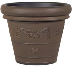 38cm Flower Garland Planter in Rust by Primrose™