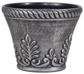 40cm Roman Flower Pot Planter in Silver by Primrose®