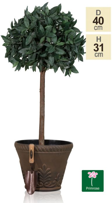 40cm Roman Flower Pot Planter in Rust by Primrose™