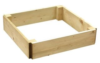 54 Litres - Wooden Timber Raised Square Grow Bed Single Tier - 60cm² (H15cm)