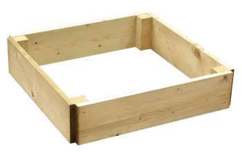 216 Litres - Wooden Timber Raised Square Grow Bed Single Tier - 120cm² (H15cm)