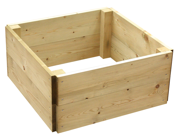 432 Litres - Wooden Timber Raised Square Grow Bed 2-Tier - 120cm² (H30cm)