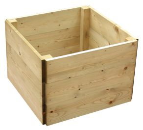 648 Litres - Wooden Timber Raised Square Grow Bed 3-Tier - 120cm² (H45cm)