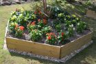 Wooden Timber Raised Pentagon Grow Bed Single Tier - 15cm x 90cm