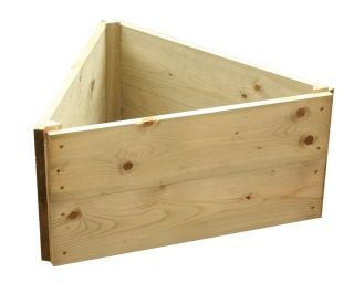 Wooden Timber Raised Triangle Grow Bed 2-Tier - L60cm (H30cm)