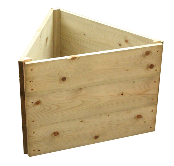 Wooden Timber Raised Triangle Grow Bed 3-Tier - L120cm (H45cm)