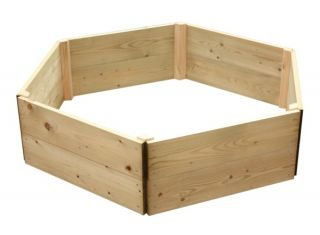 Wooden Timber Raised Hexagon Grow Bed 2-Tier - D120cm (H30cm)