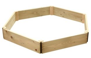 Wooden Timber Raised Hexagon Grow Bed Single Tier - D180cm (H15cm)