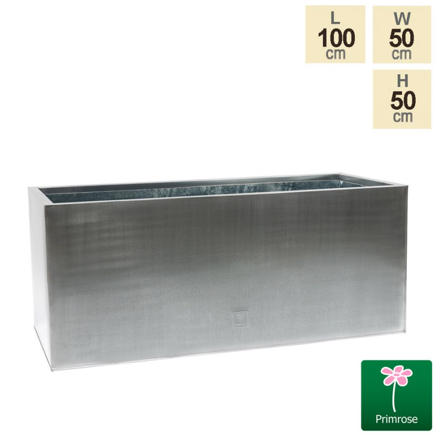 100cm Zinc Galvanised Silver Trough