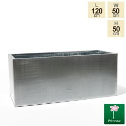 120cm Zinc Galvanised Silver Trough