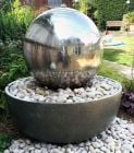 50cm Giant Eclipse Stainless Steel Sphere Water Feature