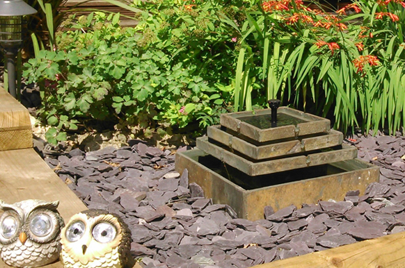 Smart Solar Slate Water Feature