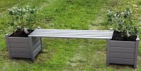 1.8m Pine Wood Grey Versailles Planter Bench