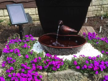 Ceramic Dove Solar Water Feature - W35cm by Solaray™