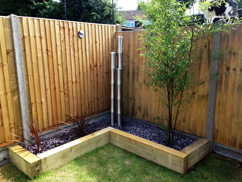 "5ft 7""/170cm X-Large 3 Brushed Stainless Steel Bamboo Tubes Water Feature With LED Lights On Tubes & Base by Ambienté™"