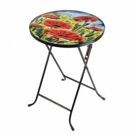35cm Glass Poppy Table