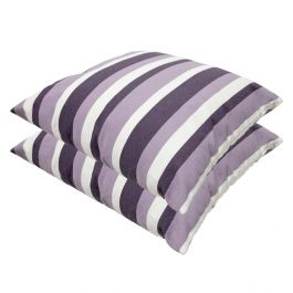 Lilac Stripe Outdoor Scatter Cushion 45x45cm - Pack Of 2