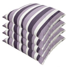Lilac Stripe Outdoor Scatter Cushion 45x45cm - Pack Of 4