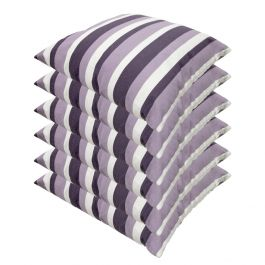 Lilac Stripe Outdoor Scatter Cushion 45x45cm - Pack Of 6