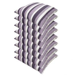 Lilac Stripe Outdoor Scatter Cushion 45x45cm - Pack Of 8