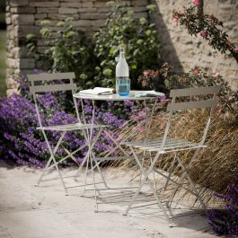 Rive Droite 2 Seater Steel Bistro Set in Clay