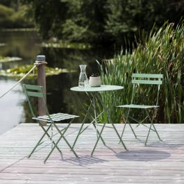 Rive Droite 2 Seater Steel Bistro Set in Greengage