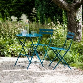 Rive Droite 2 Seater Steel Bistro Set in Teal