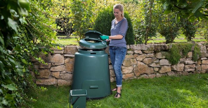 280 Litre Rapid Composter with 2 Part Lid in Green