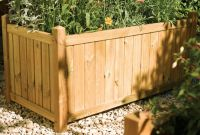 1m Wooden Versailles Rectangular Planter
