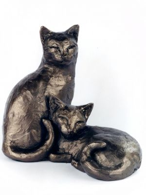 Toby And Poppy Cats Sculpture