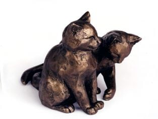 Lucky And Scruff Cats Sculpture