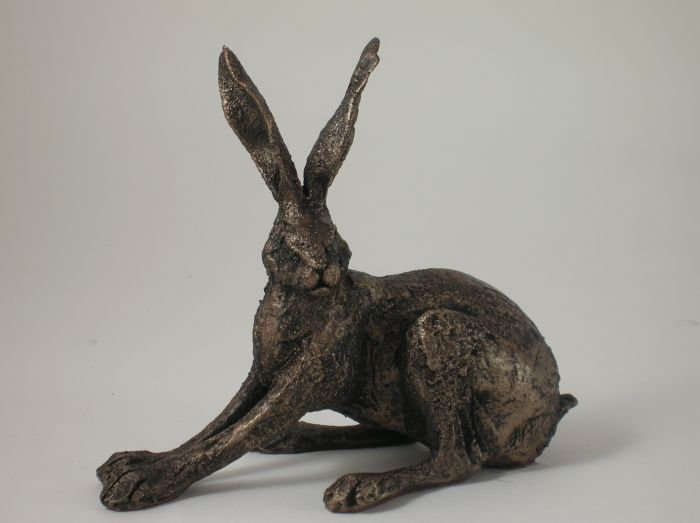 Hare Sculpture - Crouching