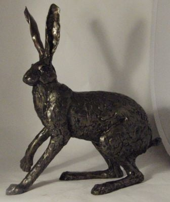 Startled Hare Sculpture