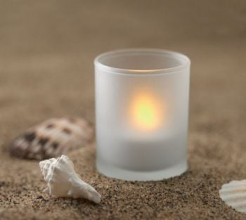 Tealight In Frosted Glass Holder