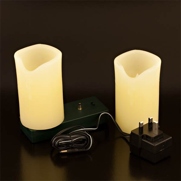 Rechargeable Candle Twin Set