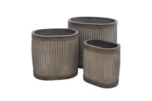 Outdoor Oval Planters (Set of Three) - Large 141cm
