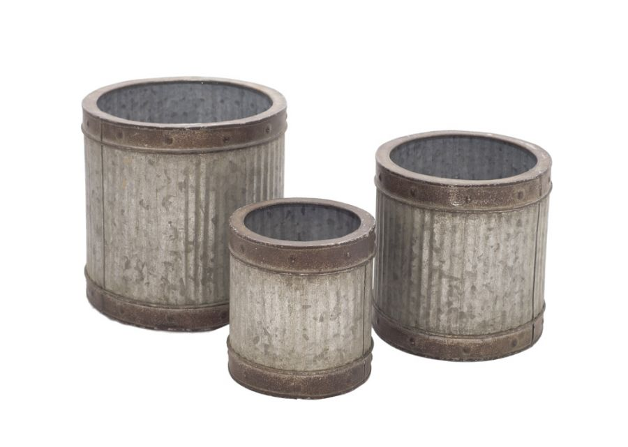 40cm Outdoor Round Planters (Set of Three) - Large 40cm