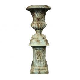 Spring Urn Planter  & Pedestal -  Everglade 90cm (2ft 10in)