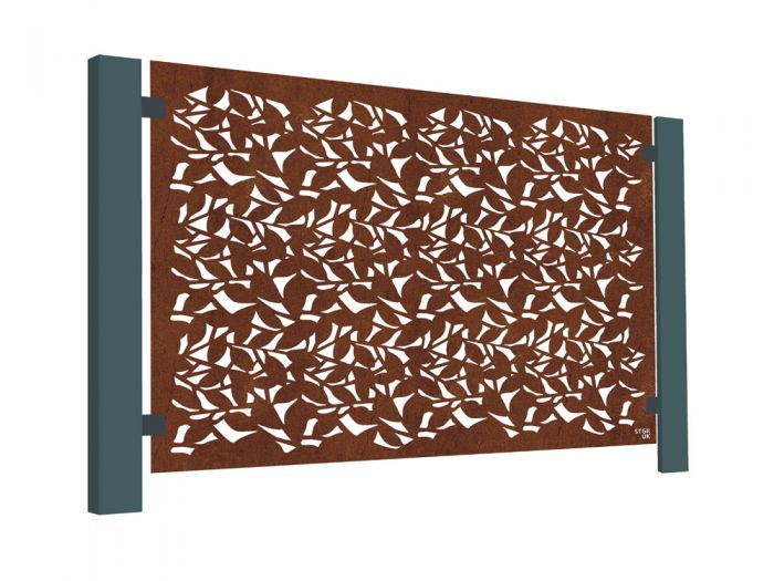Branches Decorative Balustrade Panel in Corten Steel - 3ft 2in