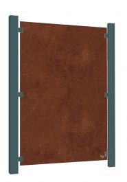 5ft 8in Corten Steel Blank Decorative Full Height Screening Fence Panel
