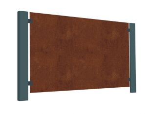 3ft 2in Corten Steel Blank Decorative Balustrade Panel