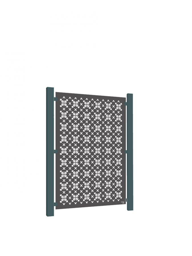 RHS Parterre Decorative Screening Fence Panel in Powder-coated Aluminium - 5ft 10 in