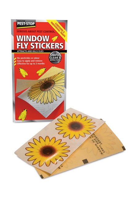 Procter Pest-Stop Window Fly Stickers (4 Pack)