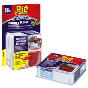 The Big Cheese Ultra Power Mouse Killer Bait Station - Twin Pack